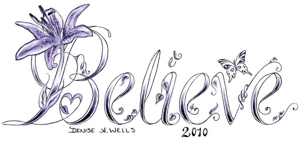 believe tattoo by denise a wells contact me for your custom tattoo design denyceangel 40. Black Bedroom Furniture Sets. Home Design Ideas