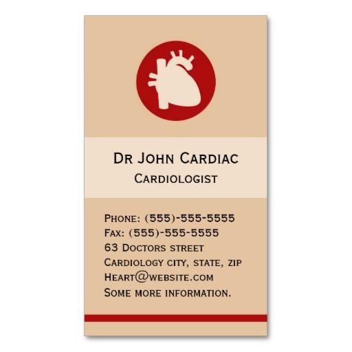Cardiology Or Cardiac Surgeon Business Card Zazzle Com Tarjeta