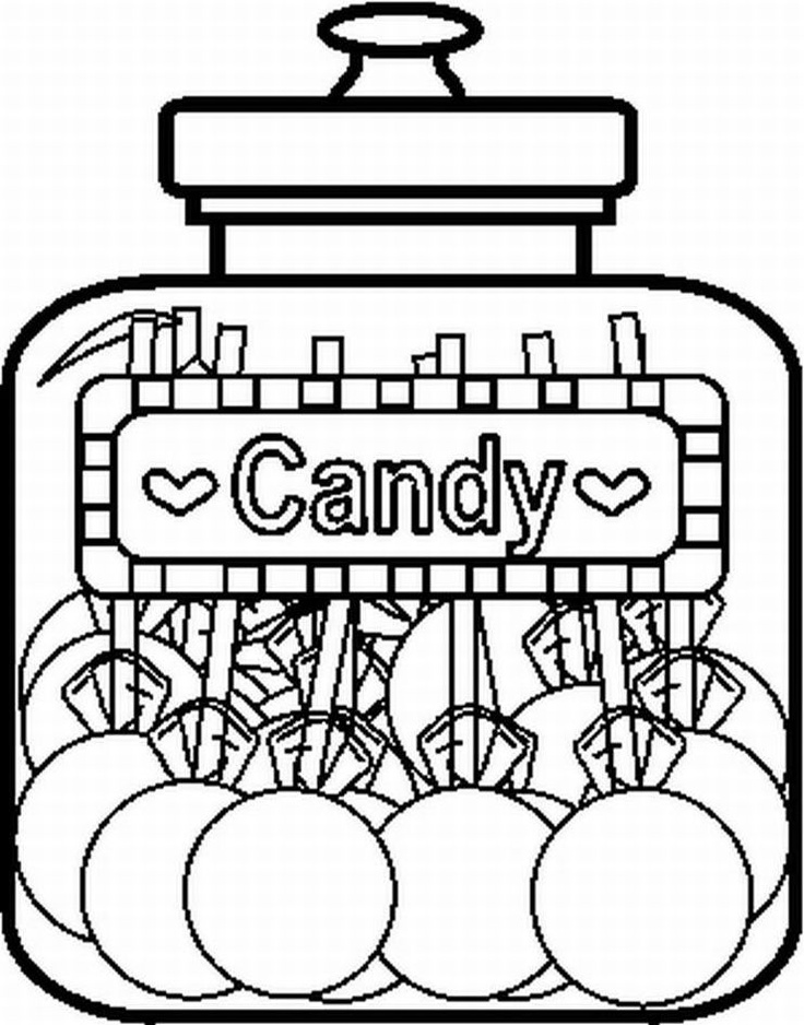 Candy Jar Coloring Page Candy Coloring Pages Printable Coloring Pages Free Printable Coloring Pages
