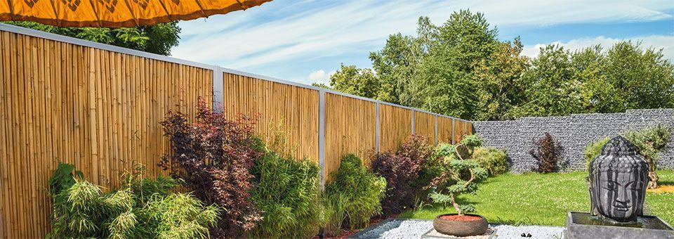 Bambus Sichtschutz Im Edelstahl Rahmen Auch Grosse Langen Wirken