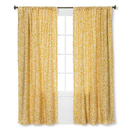 Floral Paisley Window Curtain Panel Threshold Target Panel