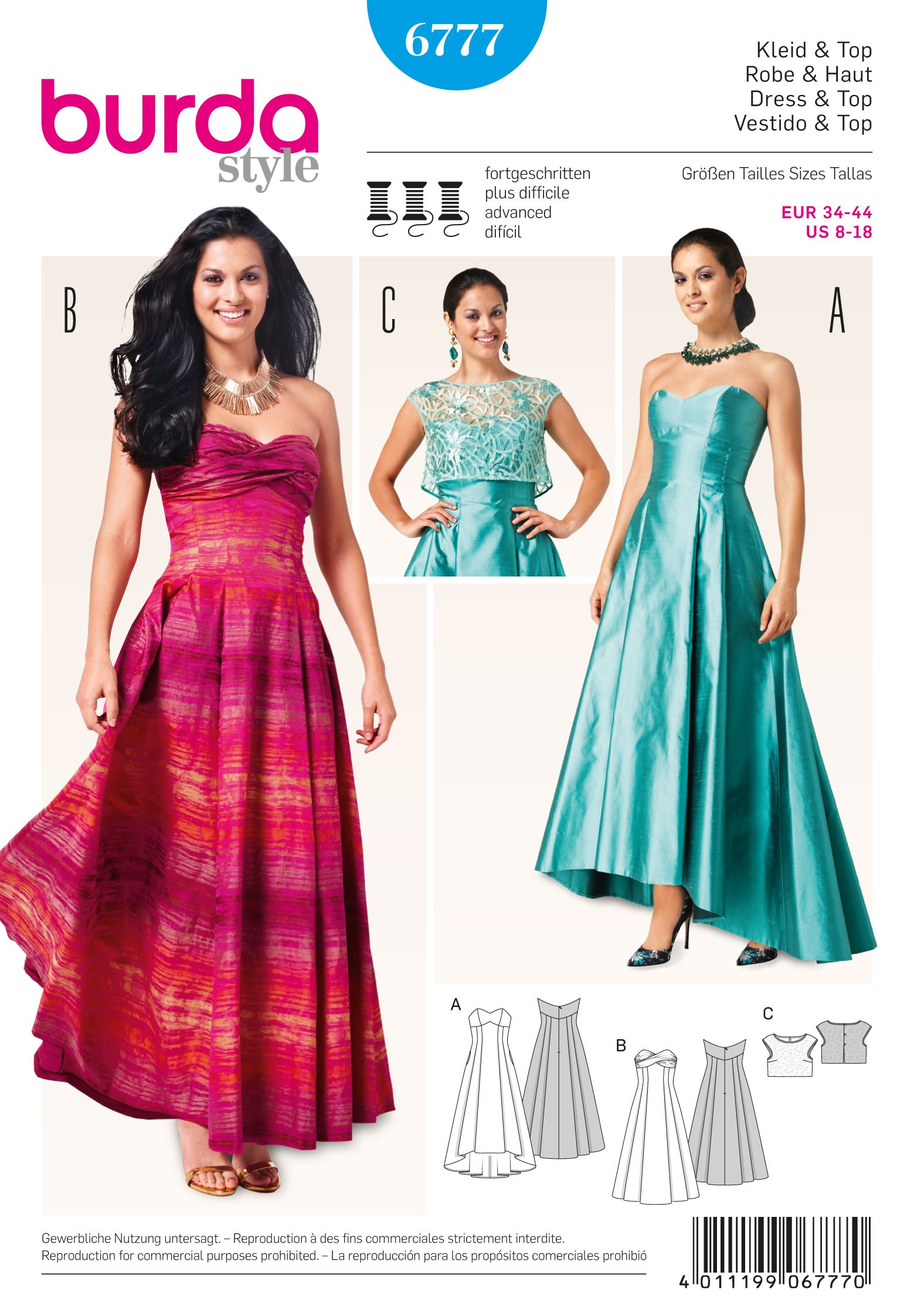 Burda Burda Style Dresses 6777 | Pattern ideas | Pinterest