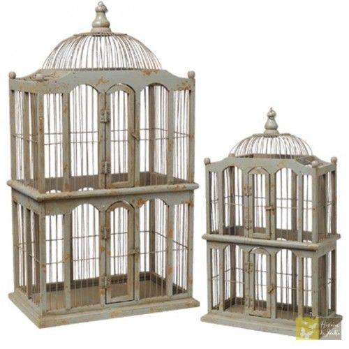 cage oiseau antique bois et métal | cage oiseaux, métal antique et