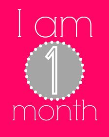 Free Baby Monthly Milestone Printables and Cheap Gift Idea