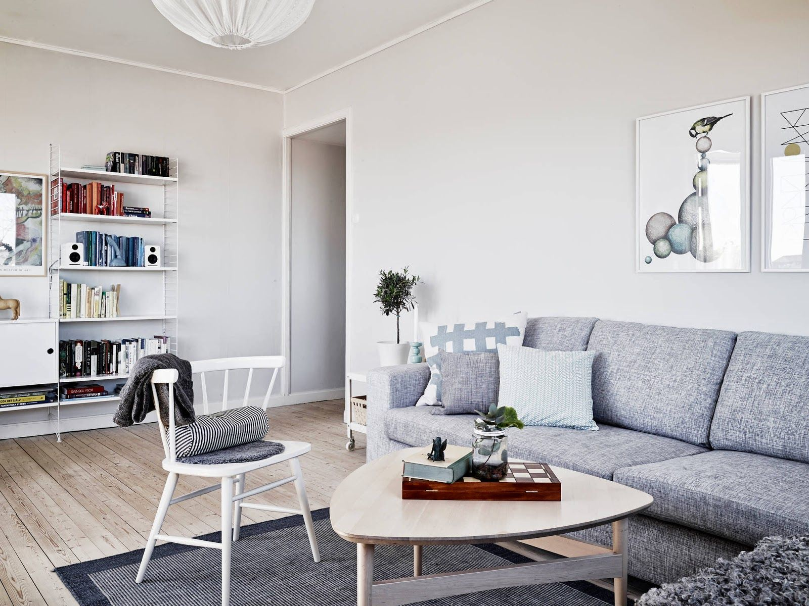 A light and airy white and grey Swedish apartment