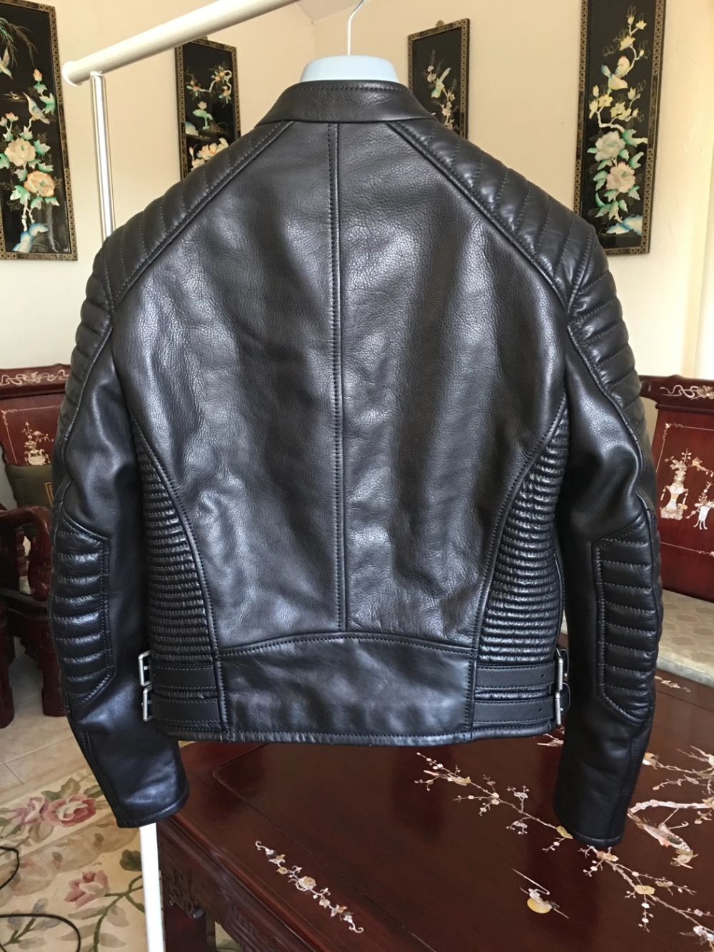 Burberry Prorsum One Of A Kind Runway Channel Quilted Calfskin Leather Motorcycle Biker Jacket Samp Mens Leather Jacket Biker Leather Jacket Outfit Men Jackets [ 1333 x 1000 Pixel ]