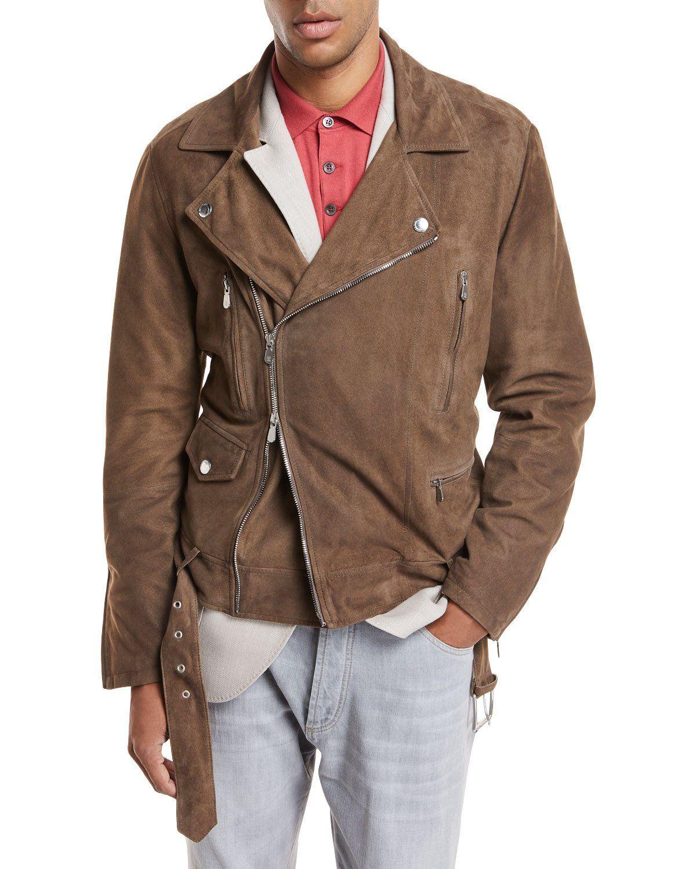 Brunello Cucinelli Suede Asymmetric Moto Jacket Jackets Moto Jacket Suede Moto Jacket [ 1500 x 1200 Pixel ]