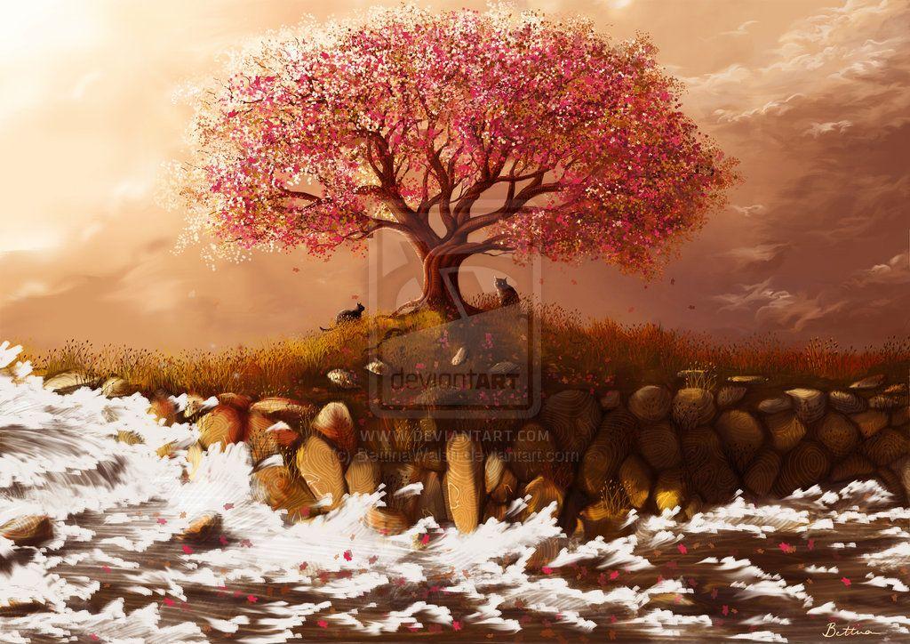 Ode To Spring By Steve Goad Blossoms Art Spring Art Tree Art