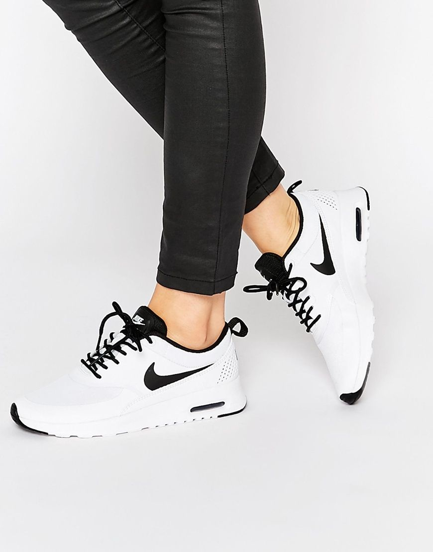Nike White & Black Air Max Thea Trainers Asos | Wishlist