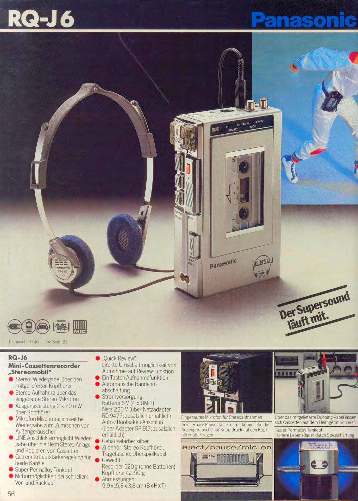 Retro Kopfhörer VINTAGE Old School 80s   Kopfhörer Headphones Hörer