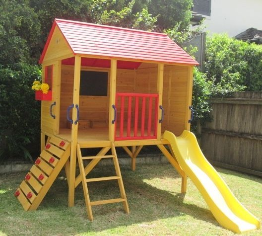 cubby house oscar kids outdoor fort playhouse timber