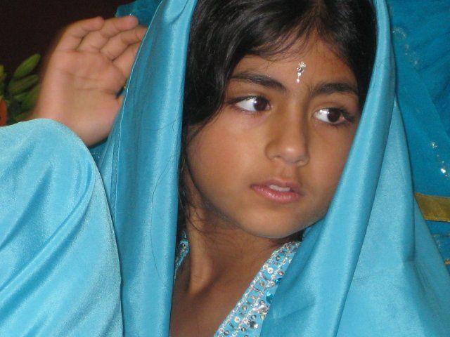 Female Child Light Skinned Black Hair Brown Eyes Female Child