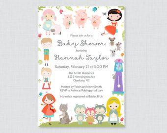 Nursery rhyme themed baby shower printable or printed invitation nursery rhyme themed baby shower printable or printed invitation nursery rhyme baby shower invites filmwisefo
