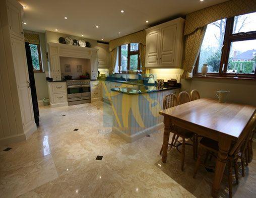 Travertine Floor Polished Travertine Stone Tile Floor