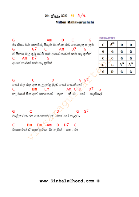 Sinhala Guitar Chords Book