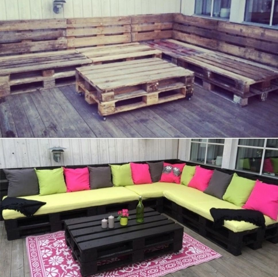 Pallet Lounge Suite Easy Video Instructions Lots Of Ideas | Pallet ...