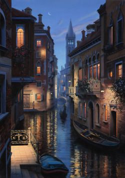 An Evening In Venice, 2010, by Evgeny Lushpin.