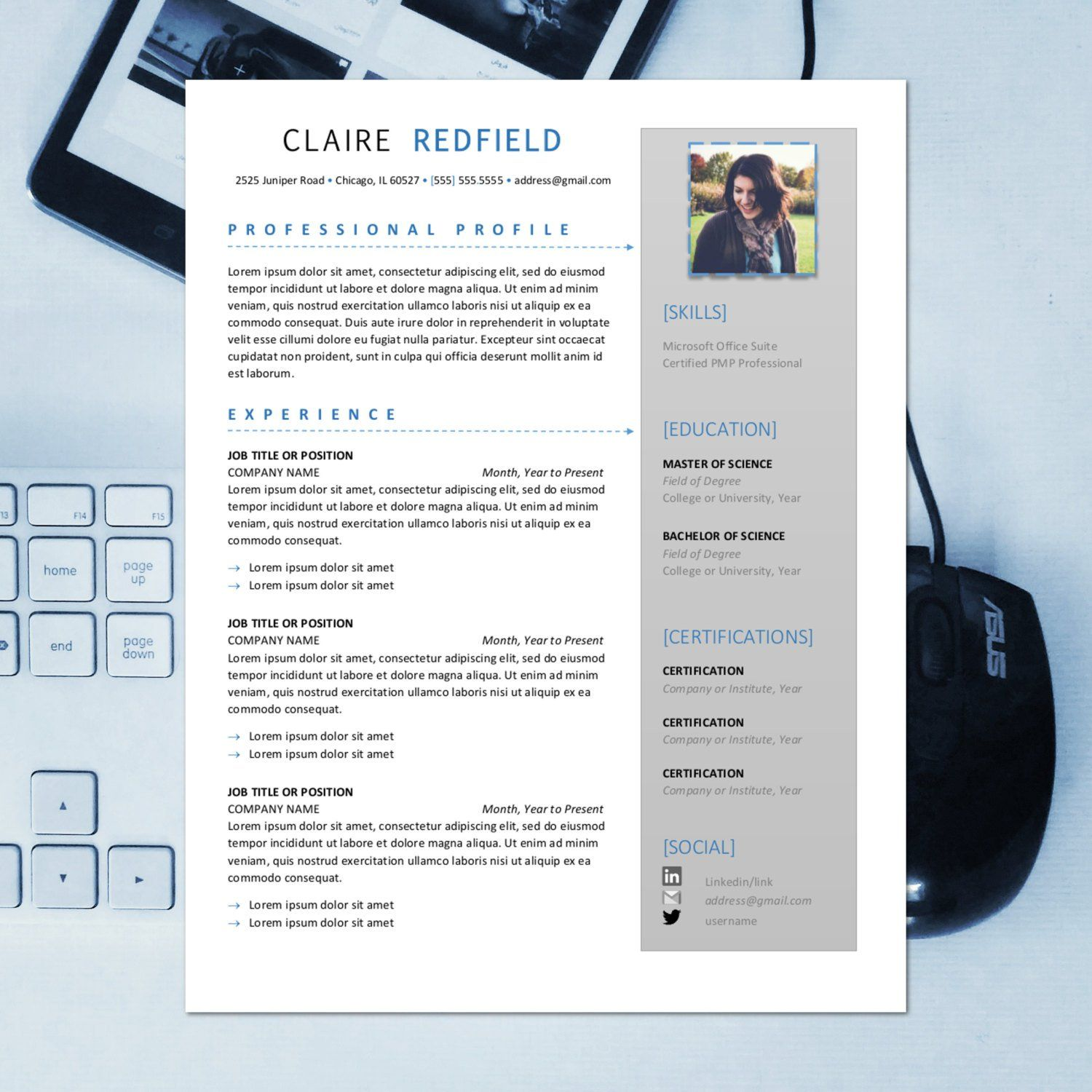 The Claire Creative Resume Template Professional Resume