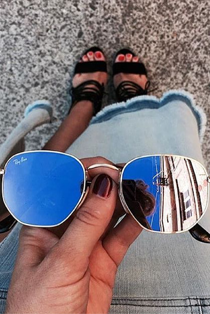 44409075f64 Cute outfit!! find more women fashion ideas....  rayban  sunglasses  style