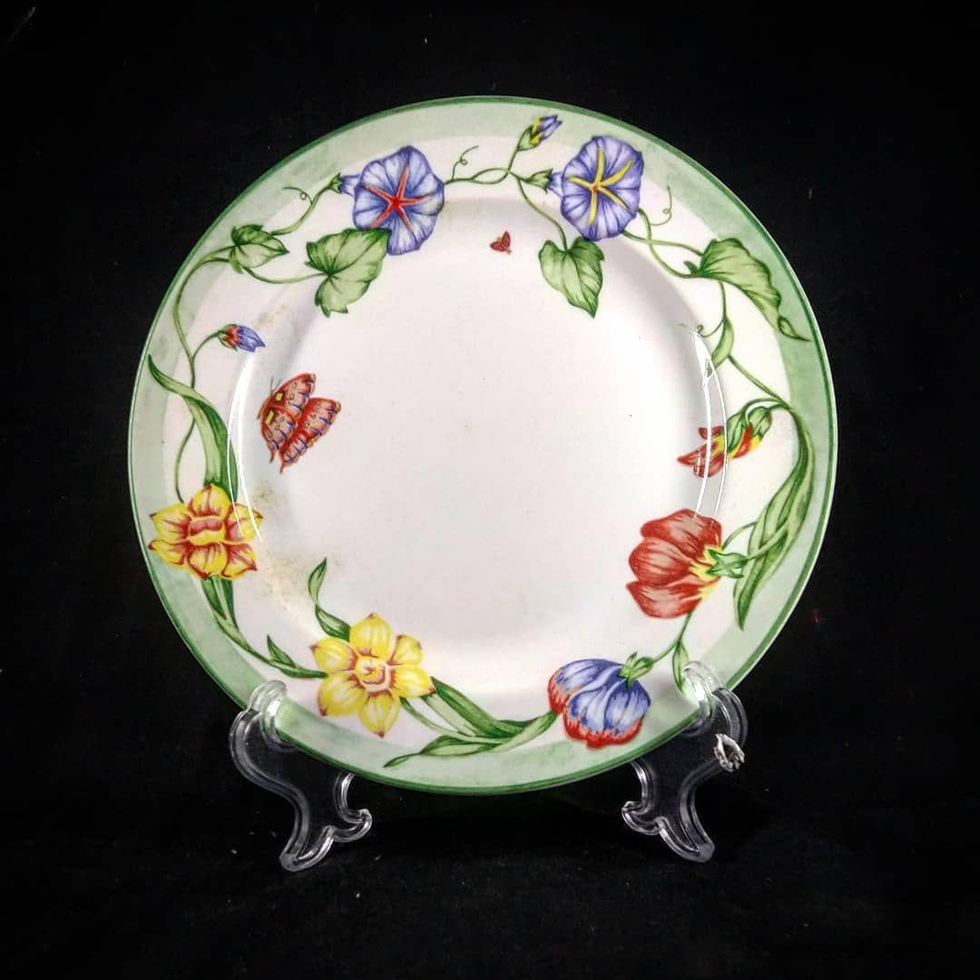 Secret Garden Piring Makan Keramik Produksi Pt Sango Indonesia Fine Ceramic Material Microwave Dishwasher Safe Salad Plate Decor Decorative Plates Home Decor