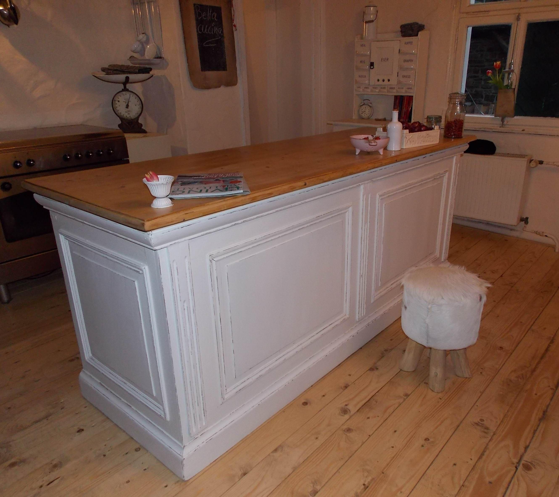 Landhaus Kücheninsel Zinkplatte