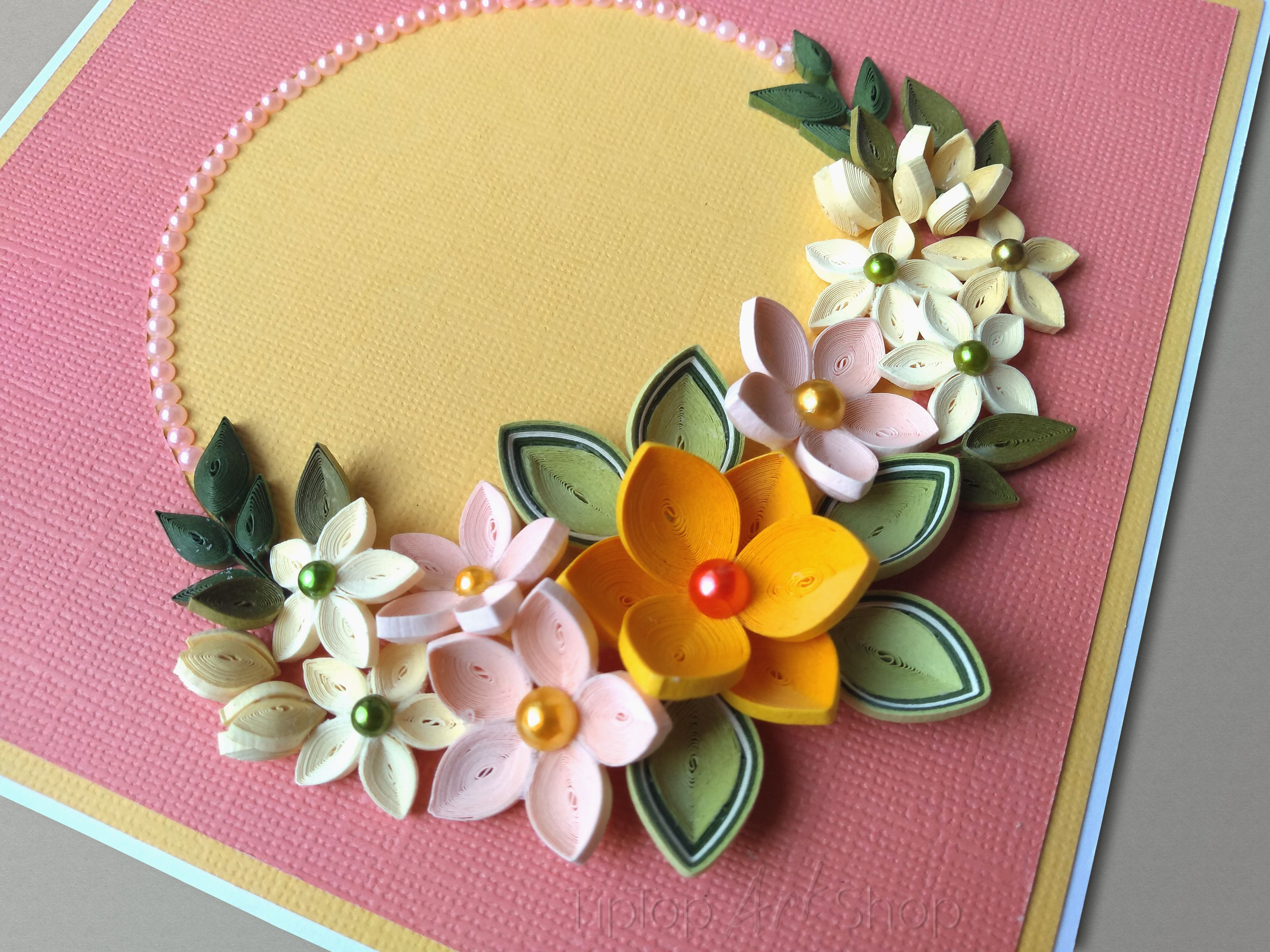 Birthday Quilling Card For Mom Homemade Anniversary Greeting Card Quilling Flowers Anniversary Greeting Cards Quilling
