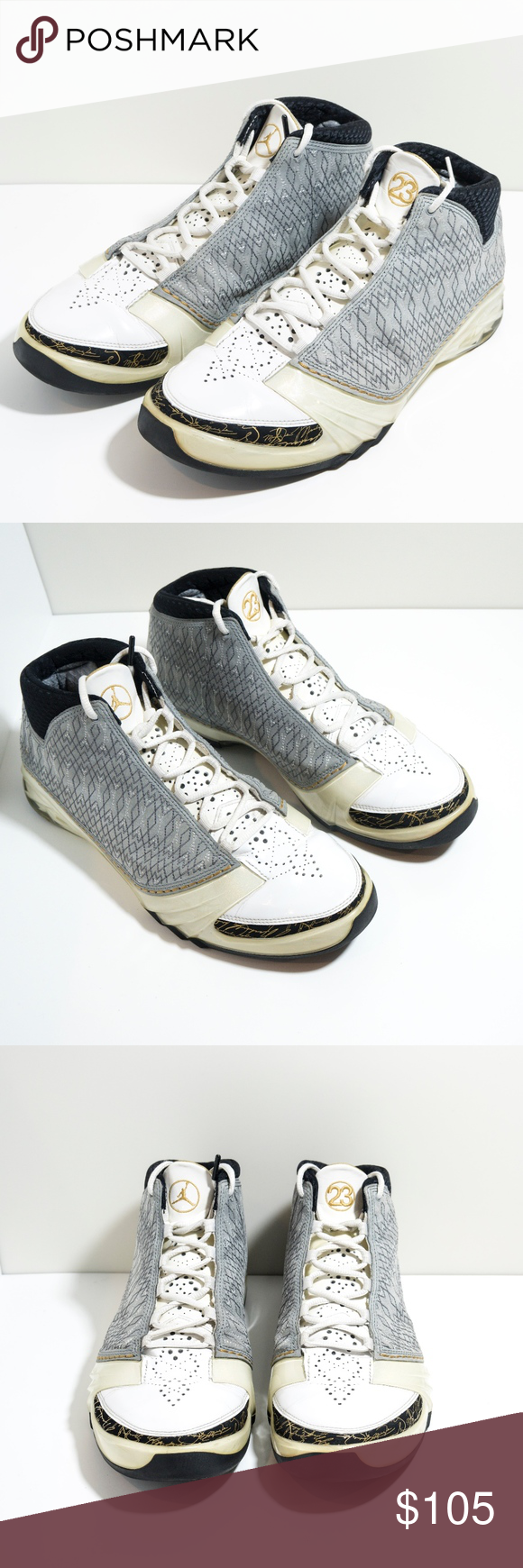 1f8720d7054664 Air Jordan 23 9 Shoes White    Stealth 318376 102 Great used condition.  Minor