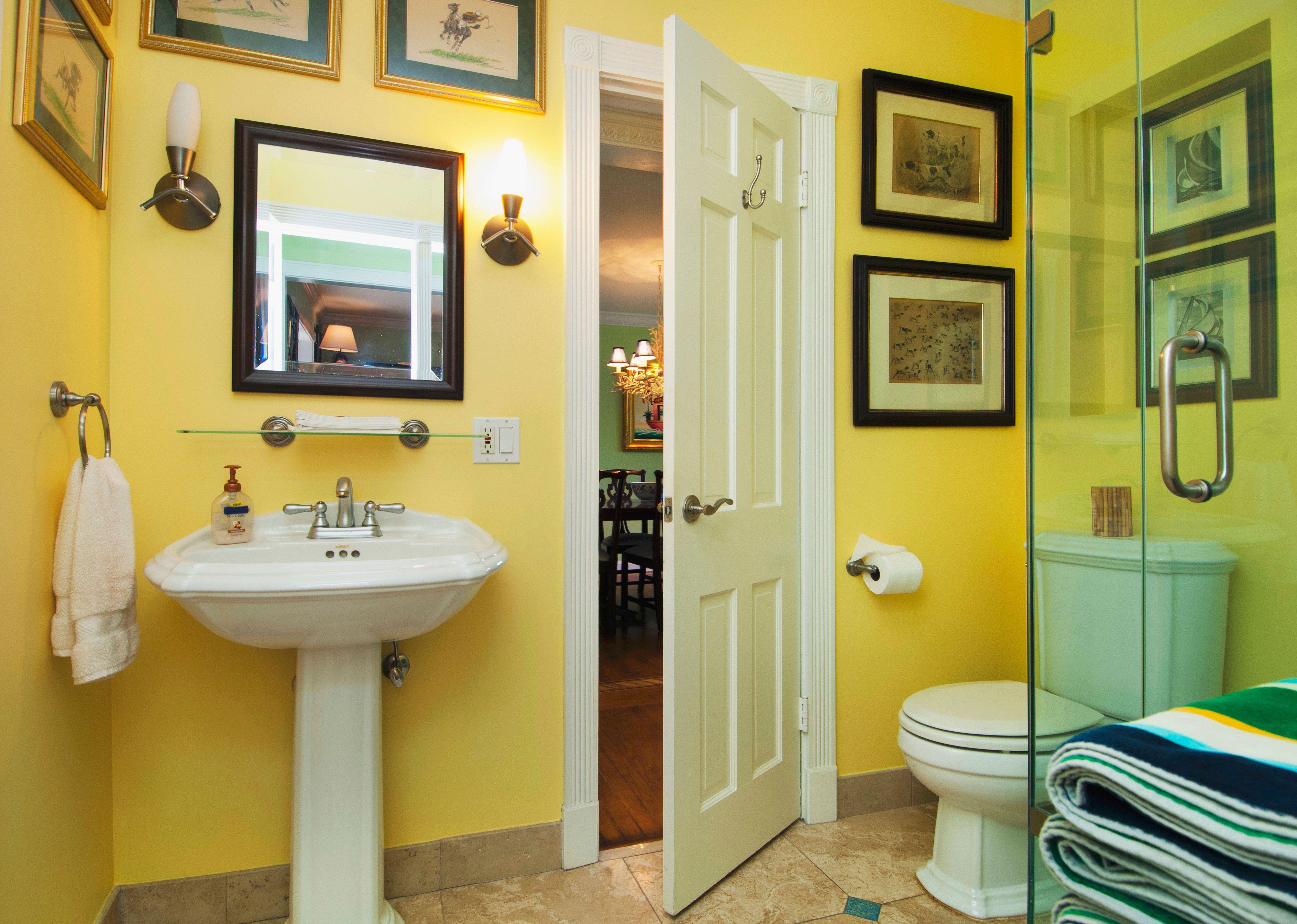 Wandgestaltung mit der Farbe Gelb