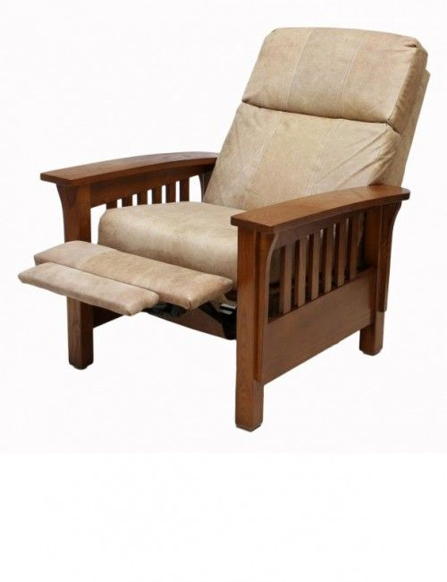 Mission Style Brown Leather Recliner Brown Leather Recliner