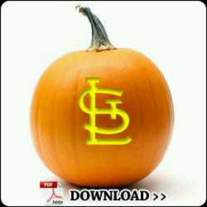 Cardinals pumpkin free print out with images pumpkin