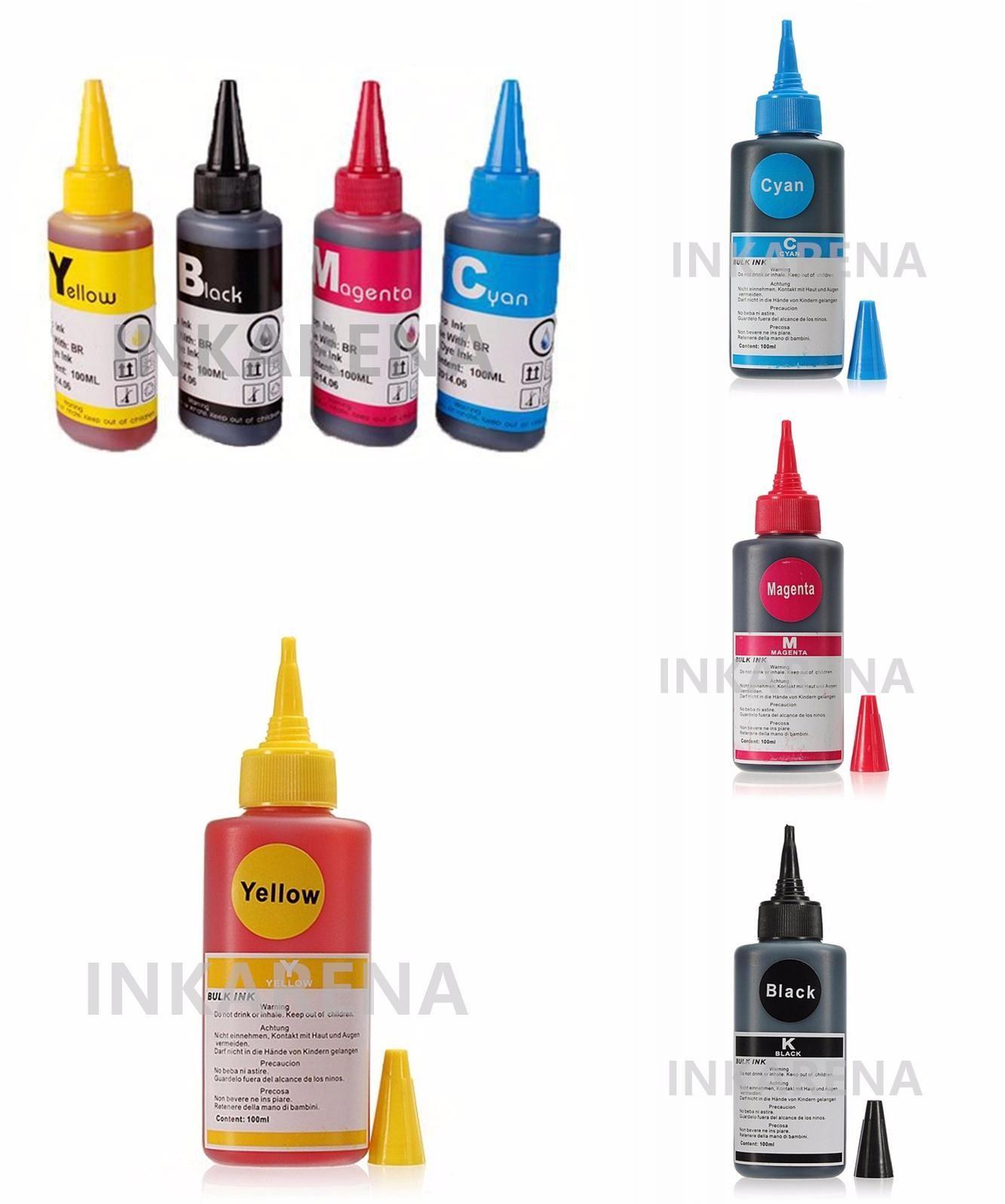 Visit To Buy Universal 4 Color Dye Ink For Hp Refill Kit 100ml Fast Print Black Based Photo Premium Epson