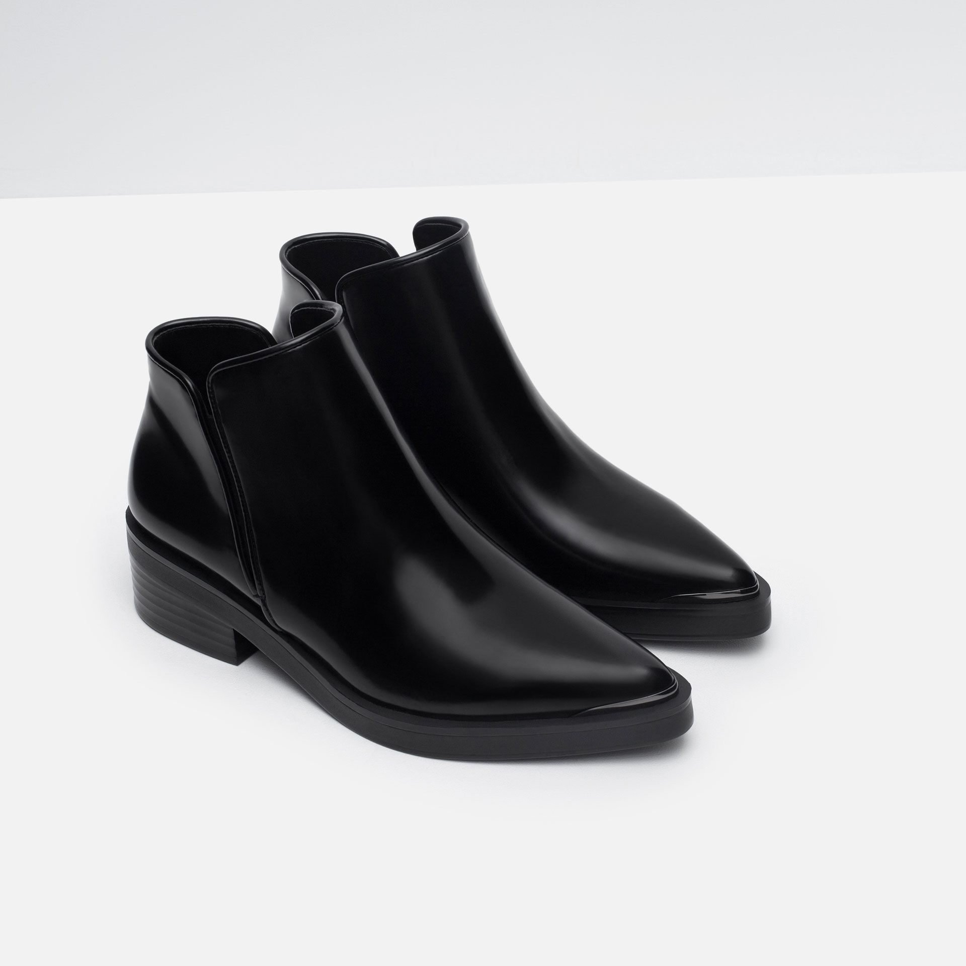 597f67bfd72 FLAT POINTED ANKLE BOOTS from Zara | Shoes in 2019 | Pointed ankle ...