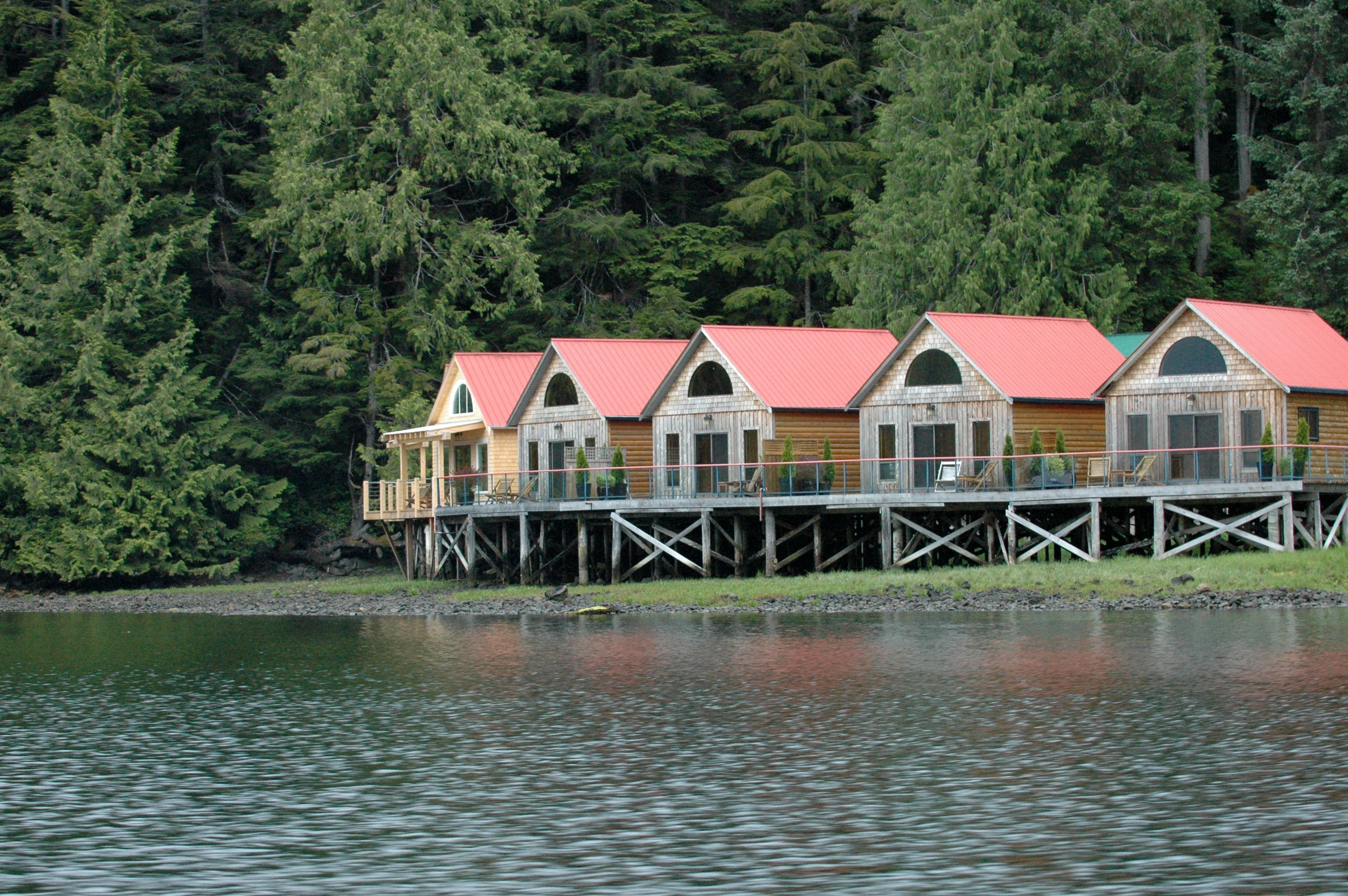 Nimmo bay resort is one of several luxury floating camps for British columbia fishing lodges