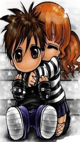 Pin De Sabrina Stewart En Wallpapers Amor Emo Chibi Anime Parejas Enamoradas Tiernas