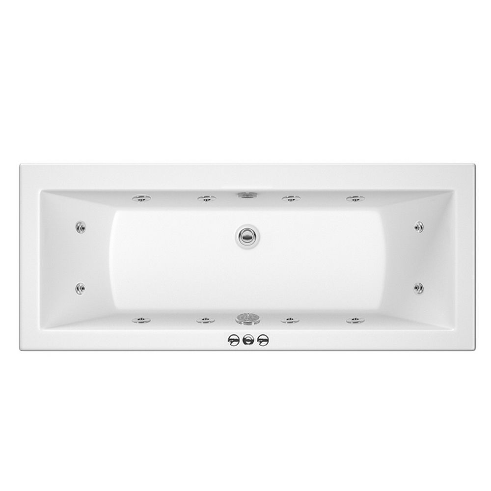 Laguna Whirlpool Spa 12 Jet Square Double Ended Bath | Victorian Spa ...