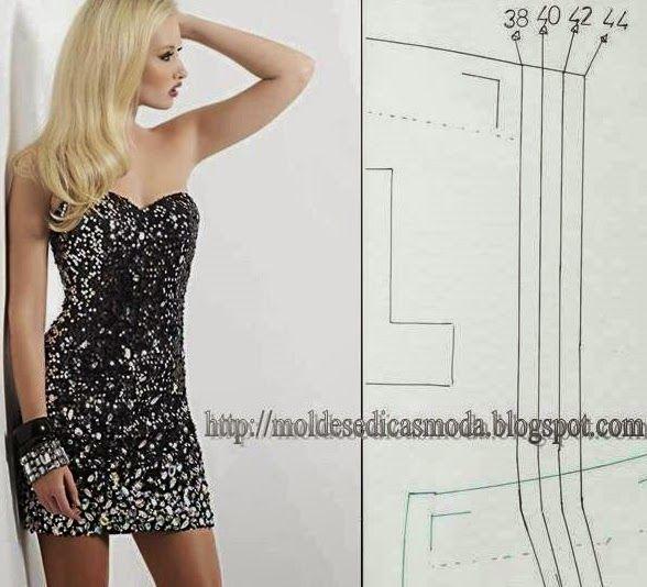 Molde de vestido cai-cai para imprimir grátis | ART@FASHION ...