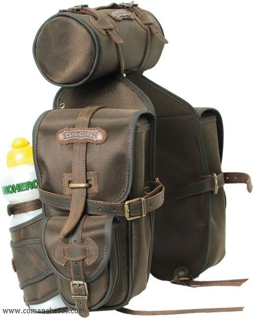 Front saddle bag made from Cordura for Western and Trekking