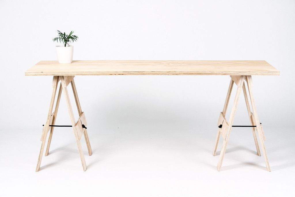 Trestle Desk Wooden Table Nz George
