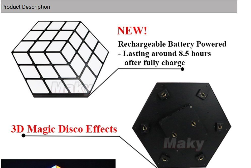 6in1 Leds Rgbwa Uv Each Light Built In Wireless Dmx Receiver
