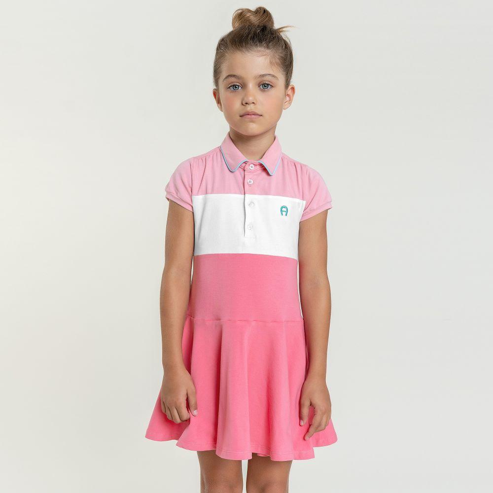 e58330e01 Aigner Kids - Pink Cotton Jersey #Dress | | LOOKBOOK GIRLS BOYS ...