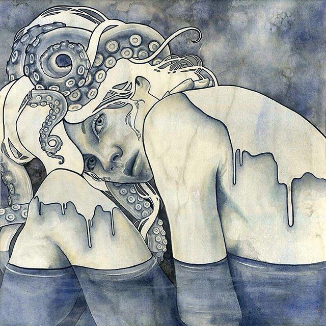 """Relinquish"" by @kelly_mckernan Medium: watercolor on paper #ArtShaper"