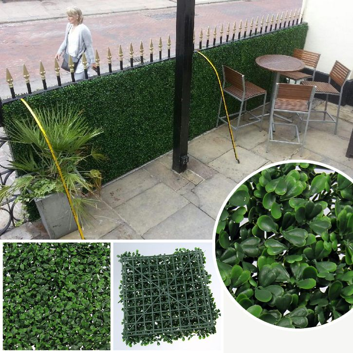 Artificial Privacy Fence Boxwood Hedge ガーデニング 家庭菜園 庭