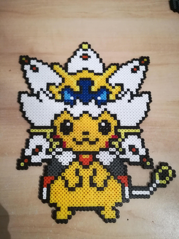 Pixel Art Perler Beads Pokemon Pikachu Solgaleo Pokemon