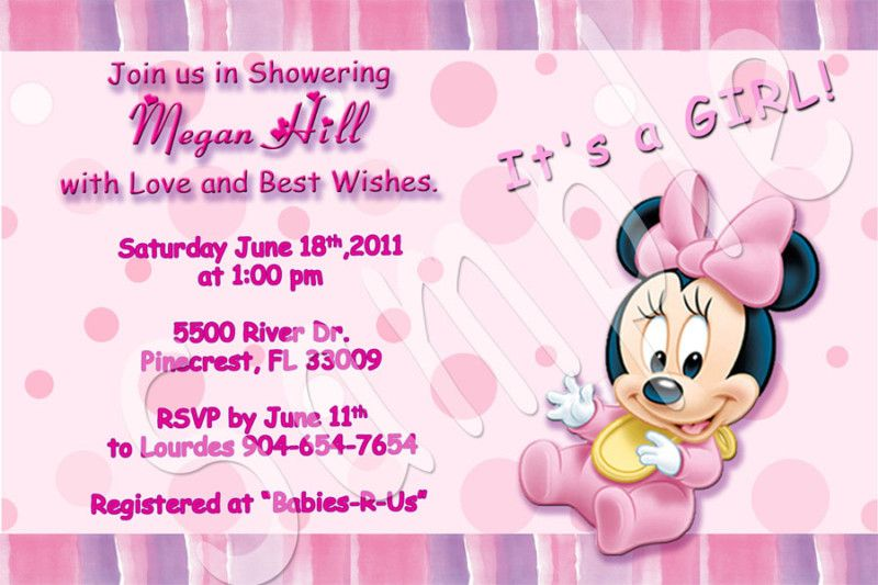 Cool How To Make Minnie Mouse Baby Shower Invitations