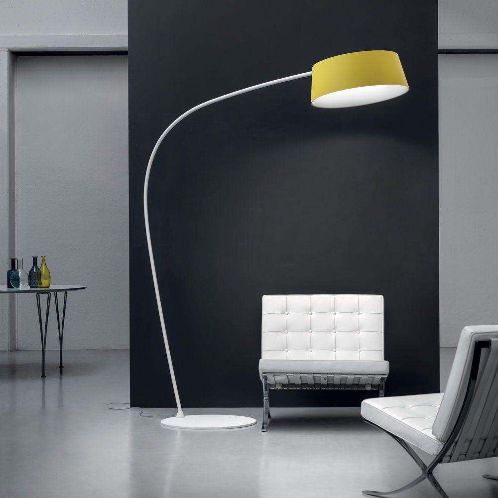 LED Bogen-Stehleuchte Oxygen schwarz  MA & DE  8  Stehlampe
