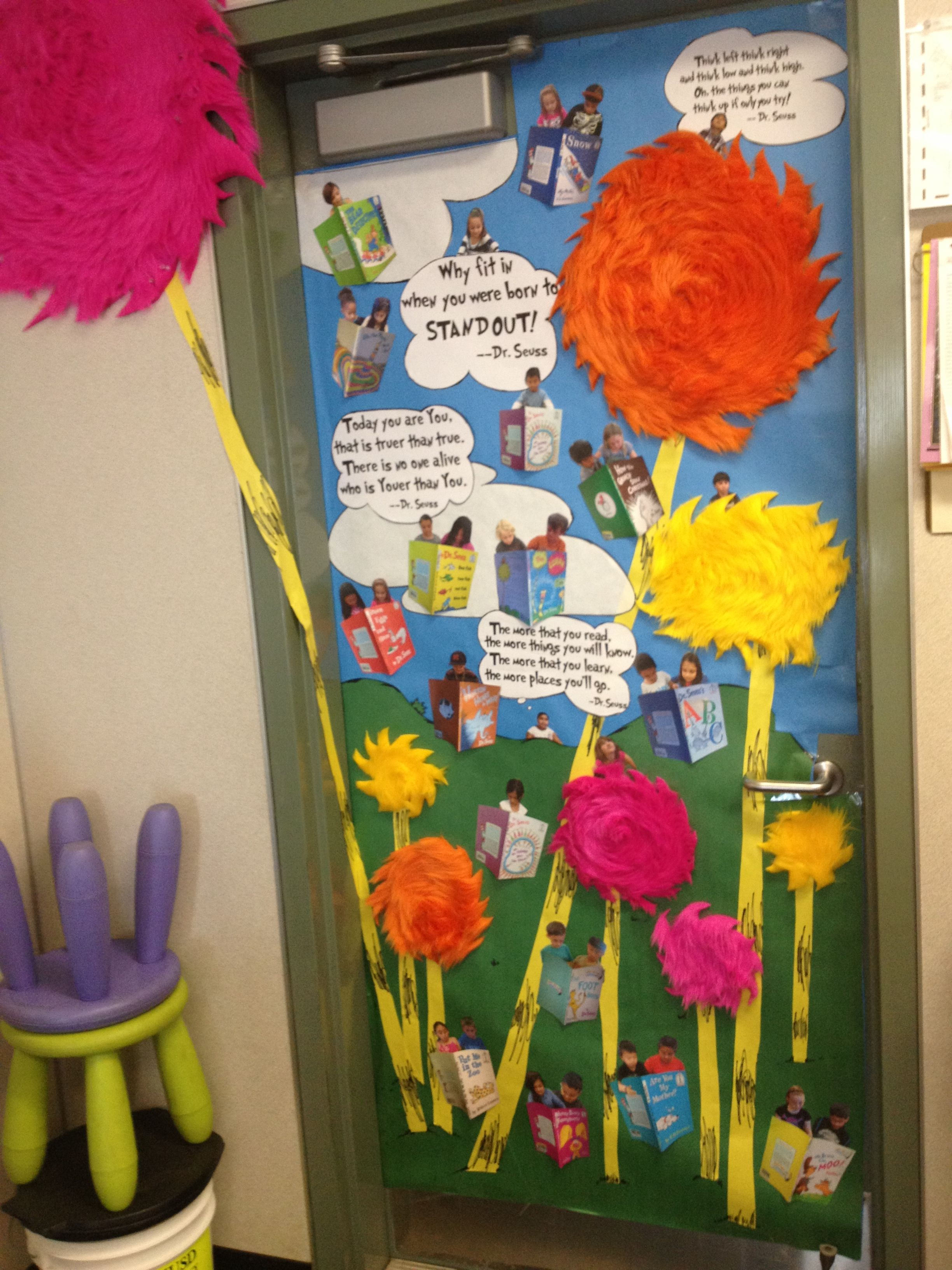 Dr. Seuss Lorax tree inspired door banner decoration for classroom! & Dr. Seuss Lorax tree inspired door banner decoration for classroom ...