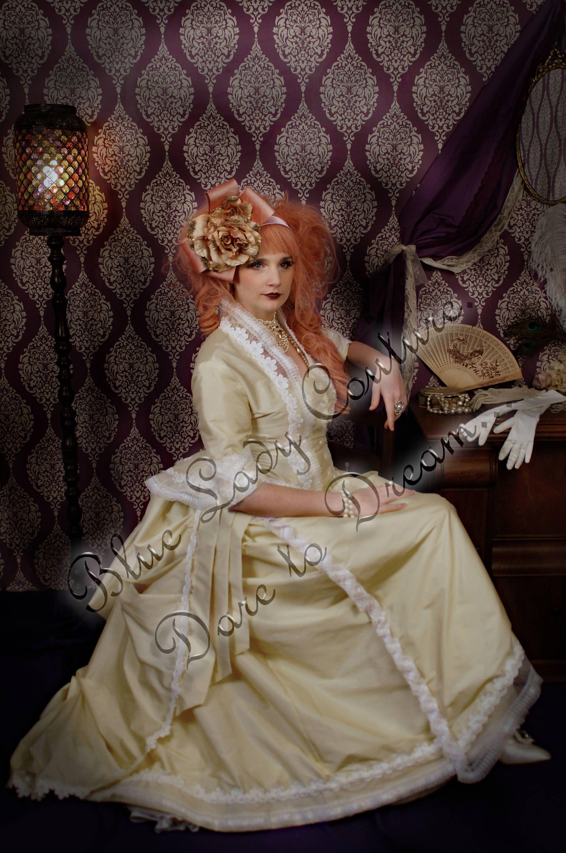 Victorian Wedding Gown, Steampunk Wedding Gown, Bustle Wedding Dress ...