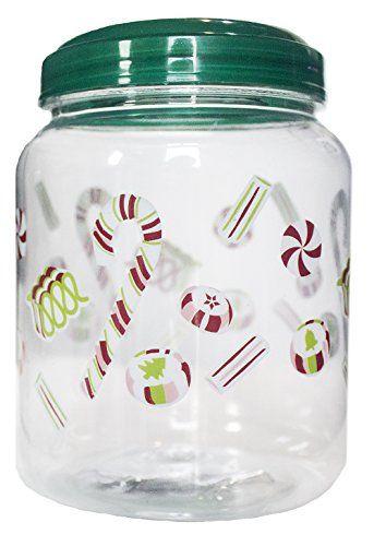 Legacy Kitchen Supplies Plastic Christmas Candy Jar With Https Www Amazon Com Dp B0150wz09s Ref Cm Sw R Pi Dp Christmas Candy Jars Candy Jars Best Candy