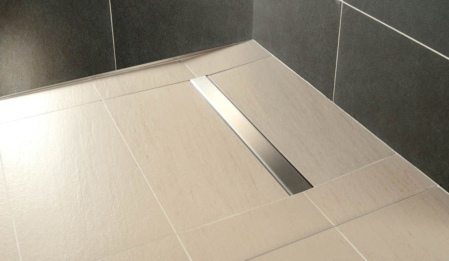 Impey Wetroom Floor Constructed Using A Linear Wet Room Floor Former