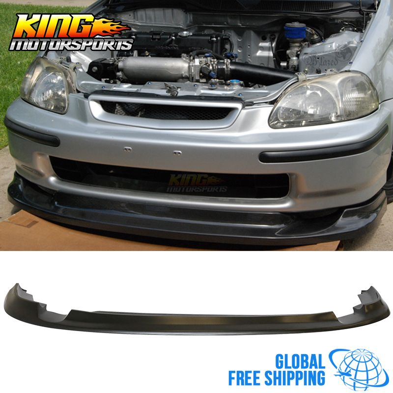 For 96 98 Honda Civic Ek First Molding Jdm Flugel Front Bumper Lip Pu Global Free Shipping Worldwide Honda Civic Honda Civic